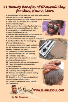 Beauty Benefits of Moroccan Rhassoul Ghassoul Clay by Mr Rhassoul
